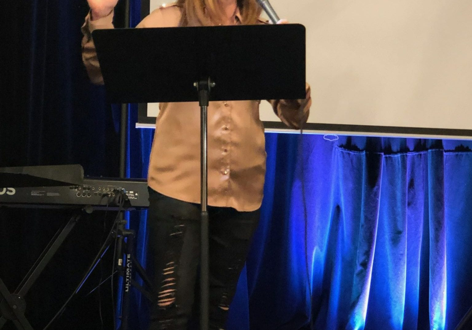 Katie ministering - Suzy Nelson